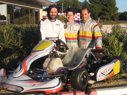 Seb pilotes en ce début de saison aux côtés de Sandrine et Fred