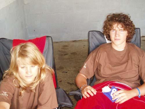 Olivier et son amie Marion qui cette année encore assitera Georges à l'intendance ...
