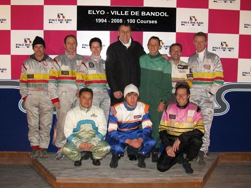 Pascal Burgot à la fête de la 100ème course du team