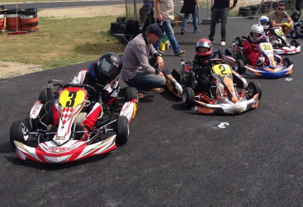 Avec son N° 20, Florian s'élance de la 5ème position pour sa finale